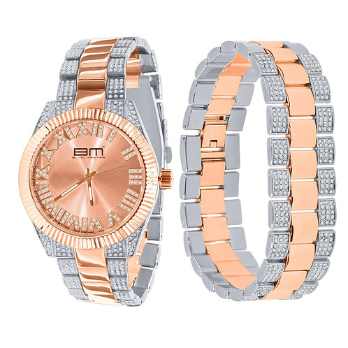 BM Galactic Watch Set - Silver/Rose