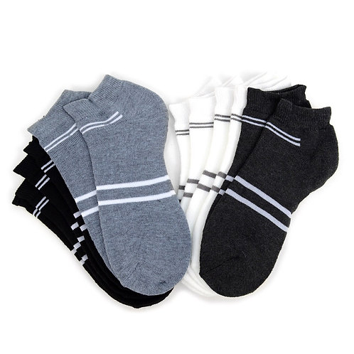 Men's Ankle Athletic Cushion Socks - 6 Pairs