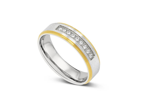 Inline CZ Ring - Gold