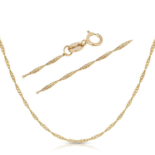 Silver Singapore Necklace 1.5 mm - Gold