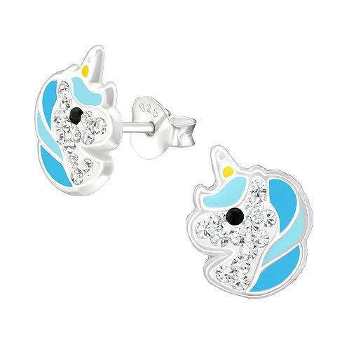 Magical Unicorn Earrings - Blue