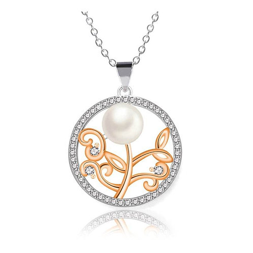 Lovely Flower Pearl Necklace