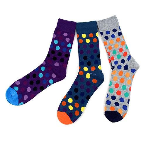 Men's Assorted Casual Fancy Socks - 3 Pairs