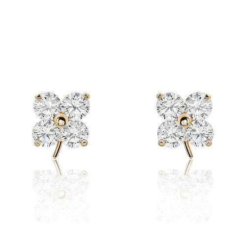 Lucky Leaf Earrings - Rose Gold