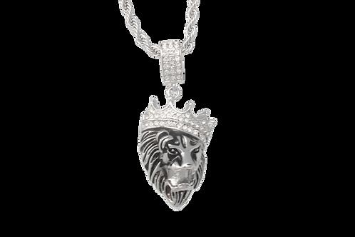 Lion King w / Chain - Silver
