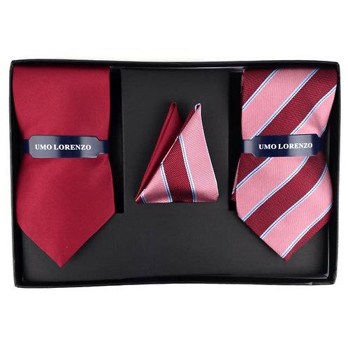 Formal Necktie Set - Red