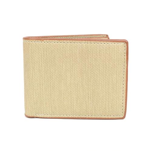 LB Plain Bi-Fold Men's Wallet - Beige