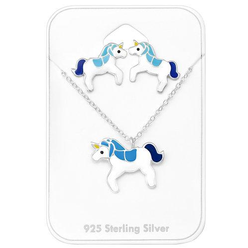 Unicorn Necklace Set - Blue