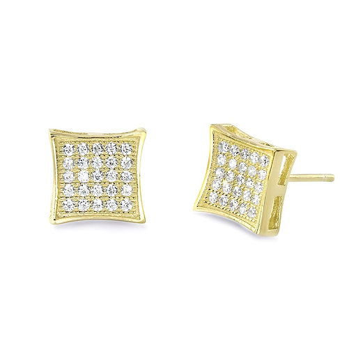 Fabulous Square Earrings - Gold