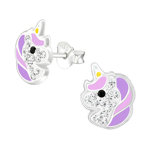 Magical Unicorn Earrings - Purple