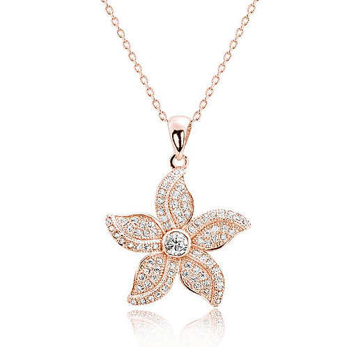 Beautiful Bauhinia Necklace - Rose Gold