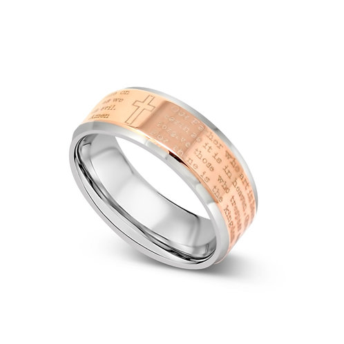 Lord's Prayer Ring - Rose Gold
