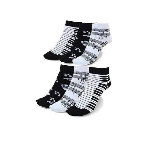 Women's Piano Low Cut Socks - 6 Pack