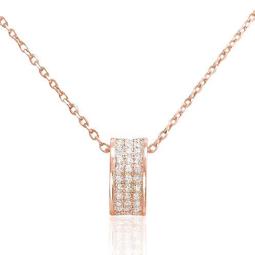 Elegant Ring Necklace - Rose Gold