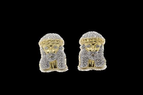 Jesus Earrings - Gold