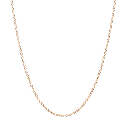 Silver Cable Chain 1 mm - Rose