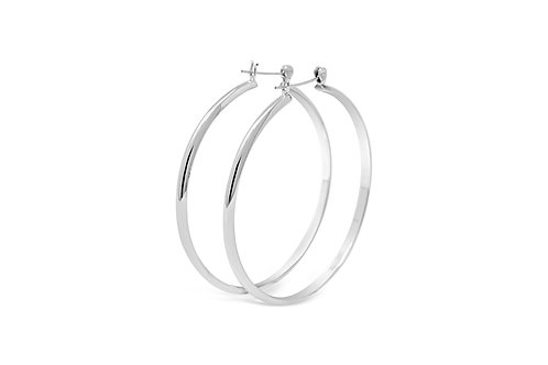 Silver Wedding Band Hoops - 3x55mm