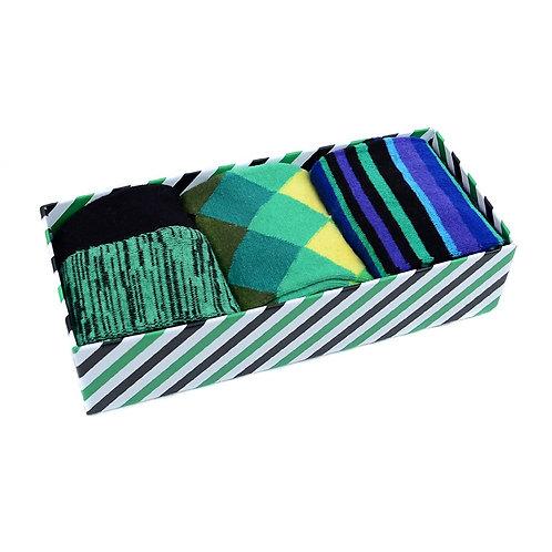 Men's Fancy Striped Socks -  Box Set