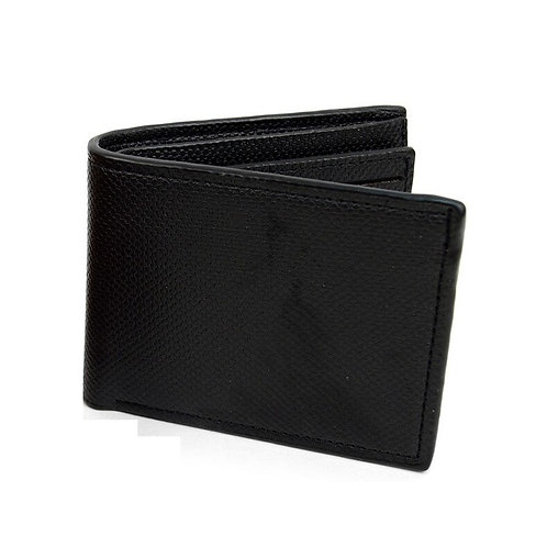 LB Plain Bi-Fold Men's Wallet - Black