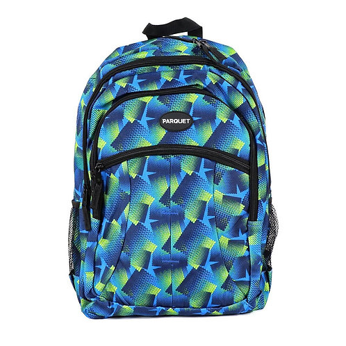 Blue Pattern Backpack
