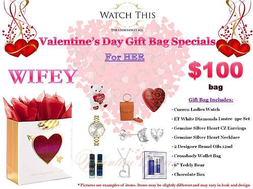 "Ladies ""WIFEY"" Valentine's Day Gift Bag"