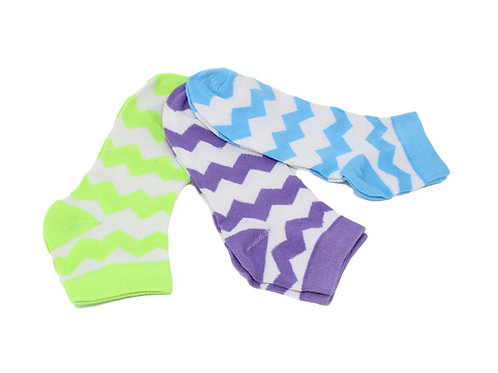 Women's Low Cut Color Ripple Socks - Asst 1