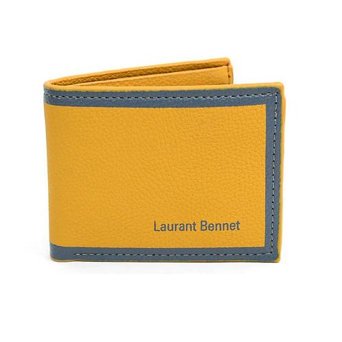 LB Border Bi-Fold Men's Wallet - Yellow