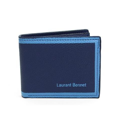 LB Border Bi-Fold Men's Wallet - Navy