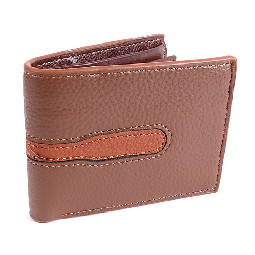 LB Tear Bi-Fold Men's Wallet - Brown