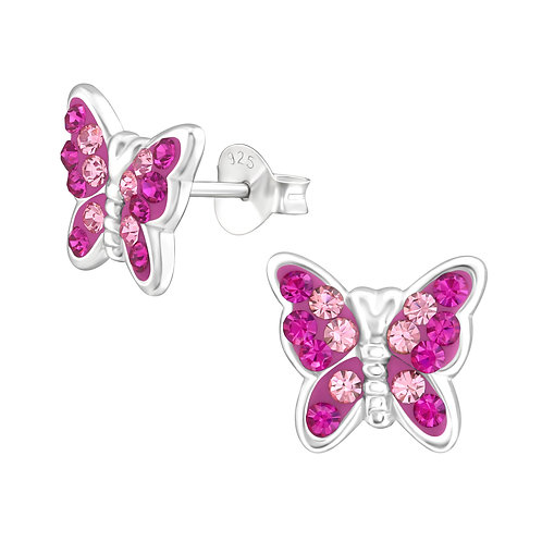 Pretty Pink Butterfly Earrings