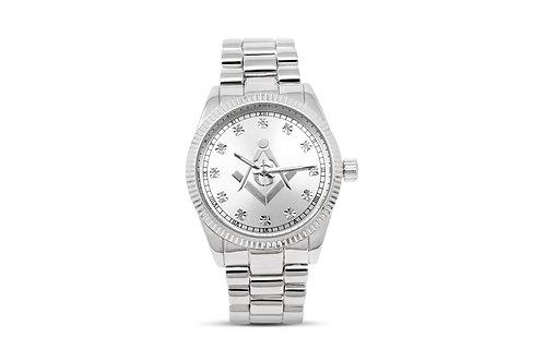 Masonic Watch - Silver