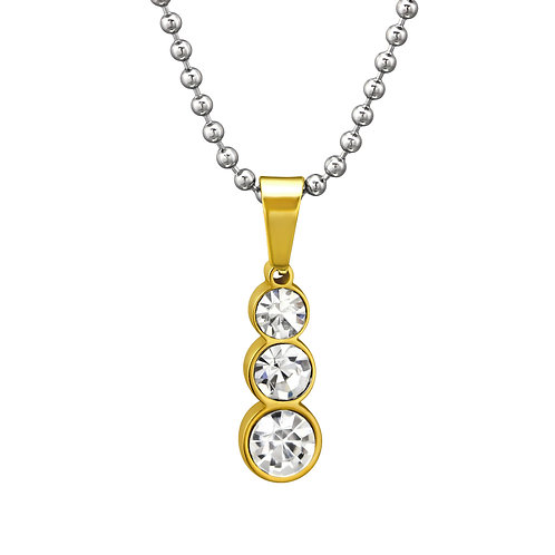 Stainless Steel Pendant Tag Necklace