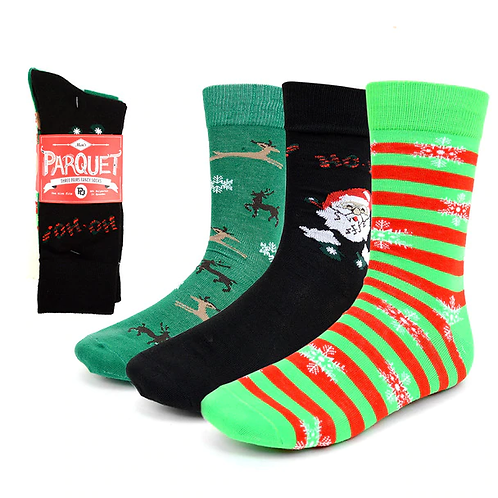 Men's Christmas Holidays Crew Socks - 3 Pack