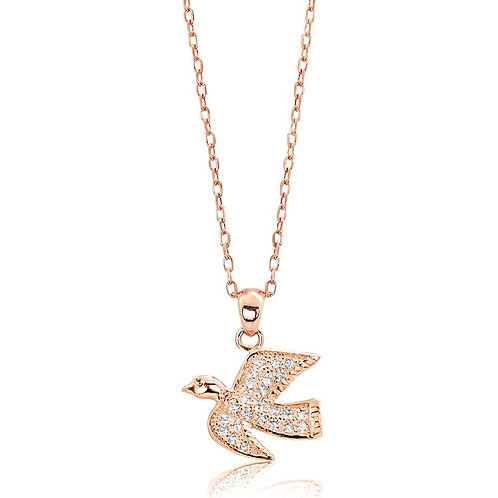 Dove Necklace - Rose Gold