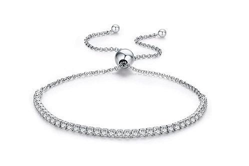Silver CZ Snake Bracelet
