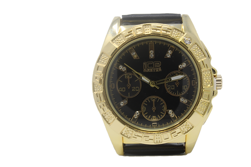 Clocksworth CZ Watch - Gold, Black
