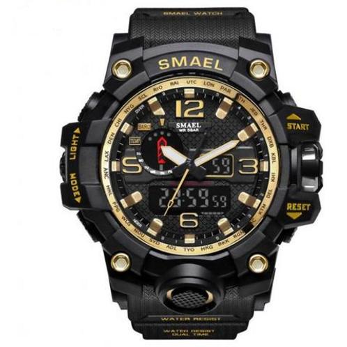 Smael Sports Watch - Black, Gold