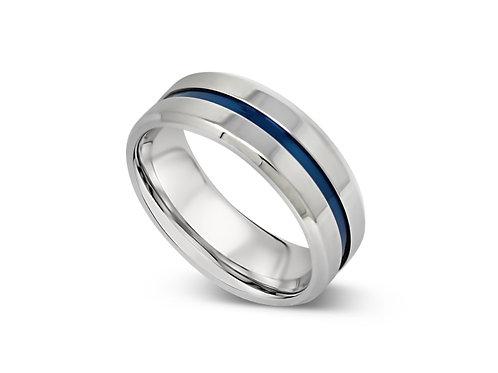 Blue Center Line Ring