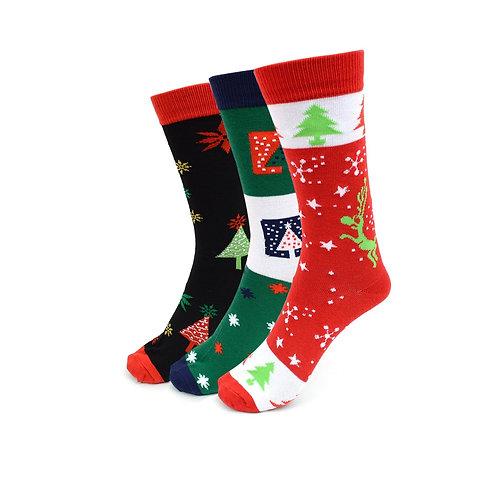 Women's Christmas Holidays Crew Socks - 3 Pack