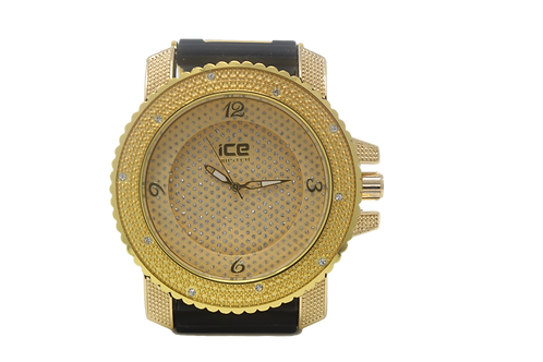 Tray Face Micropave Watch - Gold