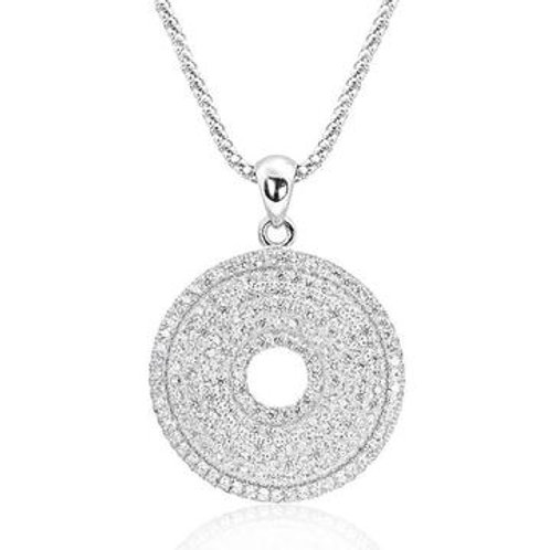 Perfect Circle Silver Necklace
