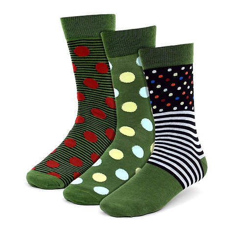 Men's Assorted Casual Fancy Socks - 3 Pair