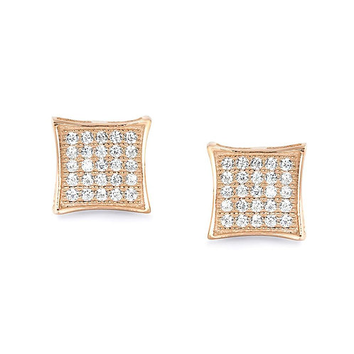 Fabulous Square Earrings - Rose Gold