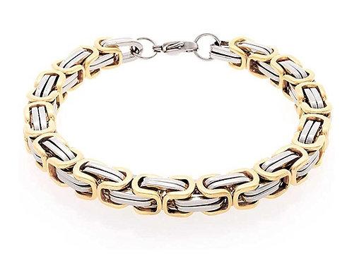 Steel Byzantine Bracelet - Gold/Silver