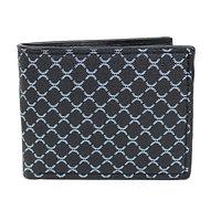 LB Patterned Leather Bi-Fold Wallet
