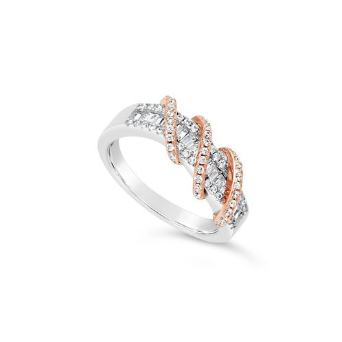 Exotic Twisted Spinel Ring - Rose Gold