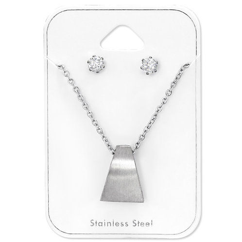 Stainless Steel Triangle Geometric Set