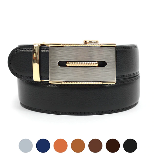 Metallic Stripe Slide Belt