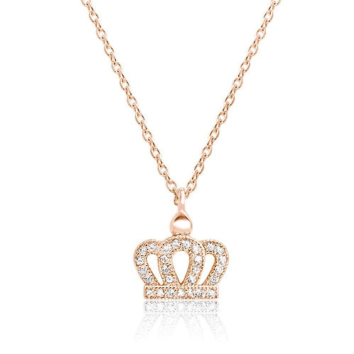 Crown Necklace - Rose Gold