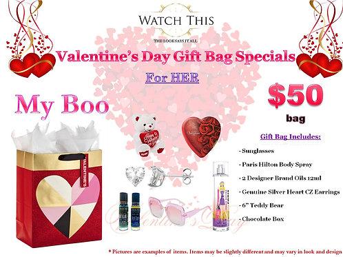 "Ladies ""My Boo"" Valentine's Day Gift Bag"
